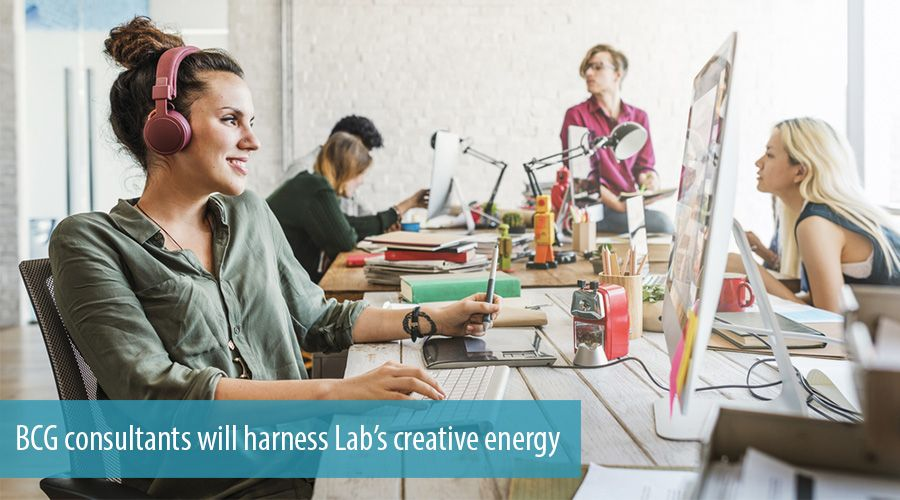 BCG consultants will harness Lab's creative energy