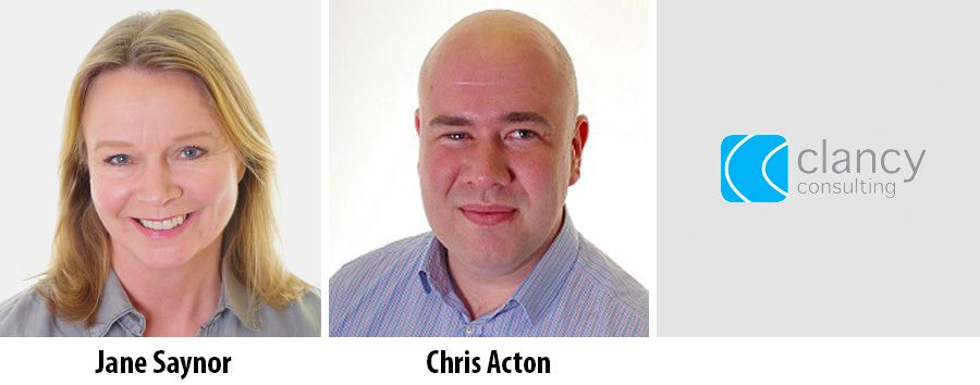 Jane Saynor and Chris Acton - clancy consulting