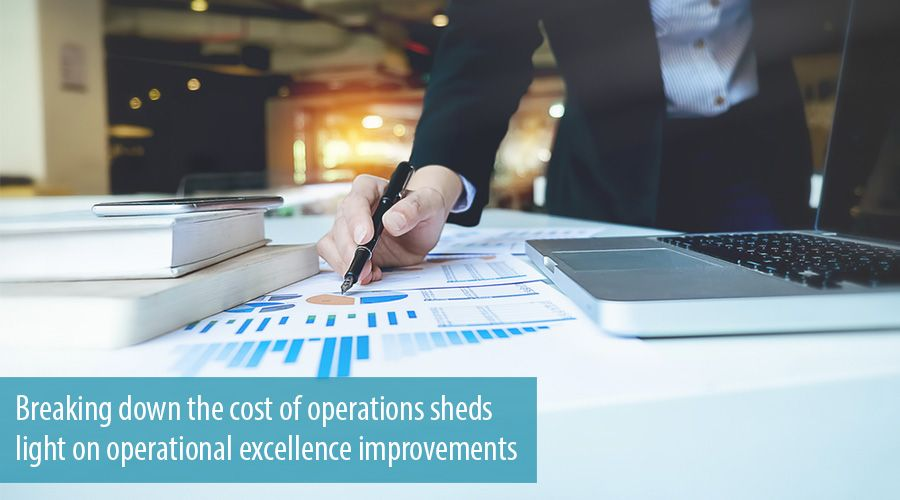 Breaking down the cost of operations sheds light on operational excellence improvements