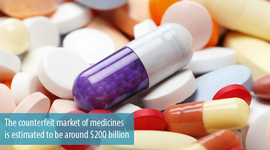 The counterfeit market of medicines is estimated to be around $200 billion