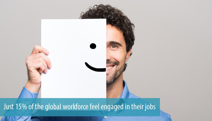 Just 15% of the global workforce feel engaged in their jobs