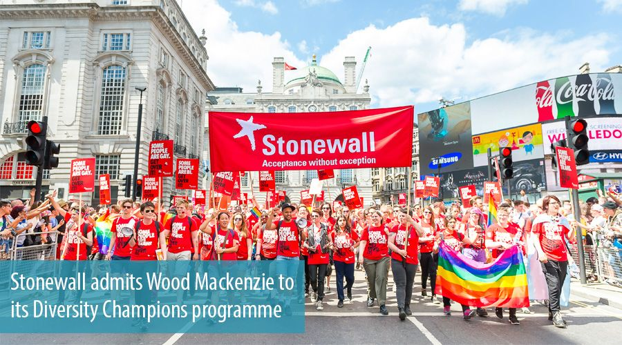 Stonewall admits Wood Mackenzie to its Diversity Champions programme