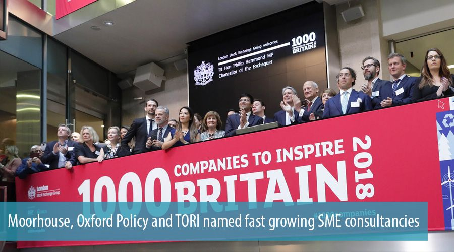 Moorhouse, Oxford Policy and TORI named fast growing SME consultancies