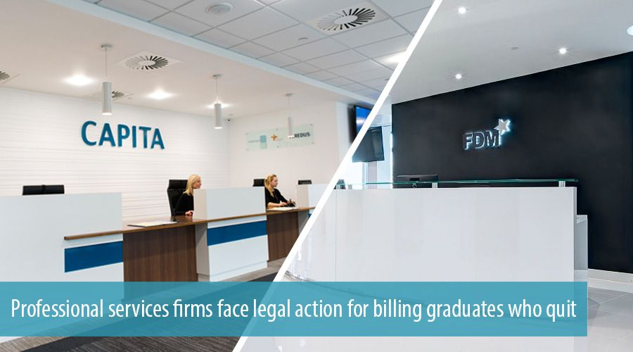 Professional services firms face legal action for billing graduates who quit