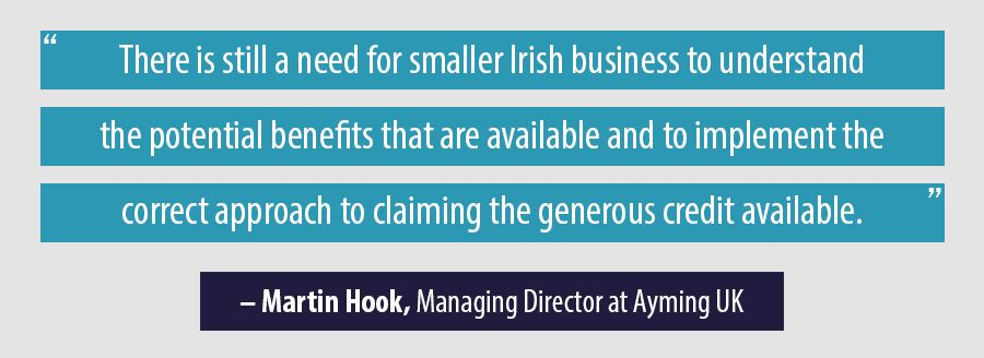 Quote Martin Hook, Managing Director at Ayming UK