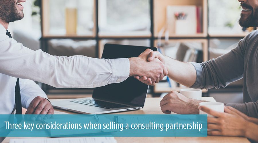 Three key considerations when selling a consulting partnership