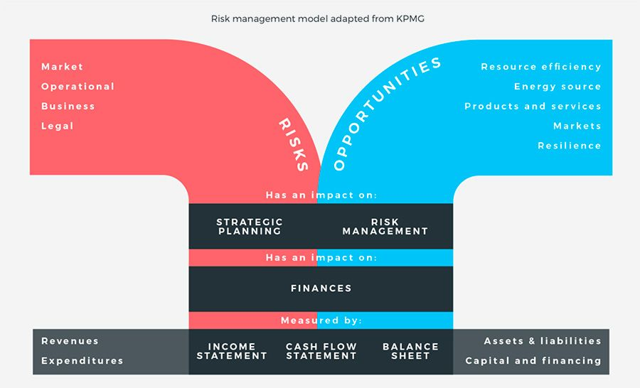 Risk management model adapted from KPMG