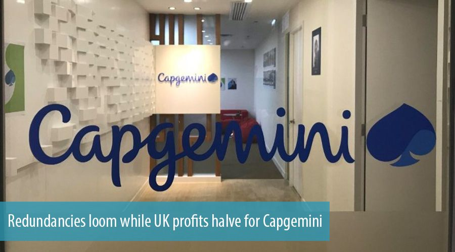 Redundancies loom while UK profits halve for Capgemini
