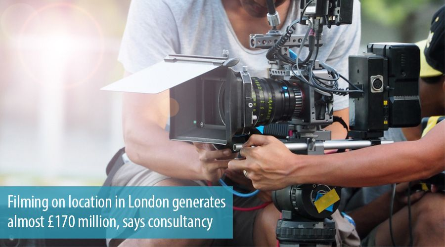 Filming on location in London generates almost £170 million, says consultancy