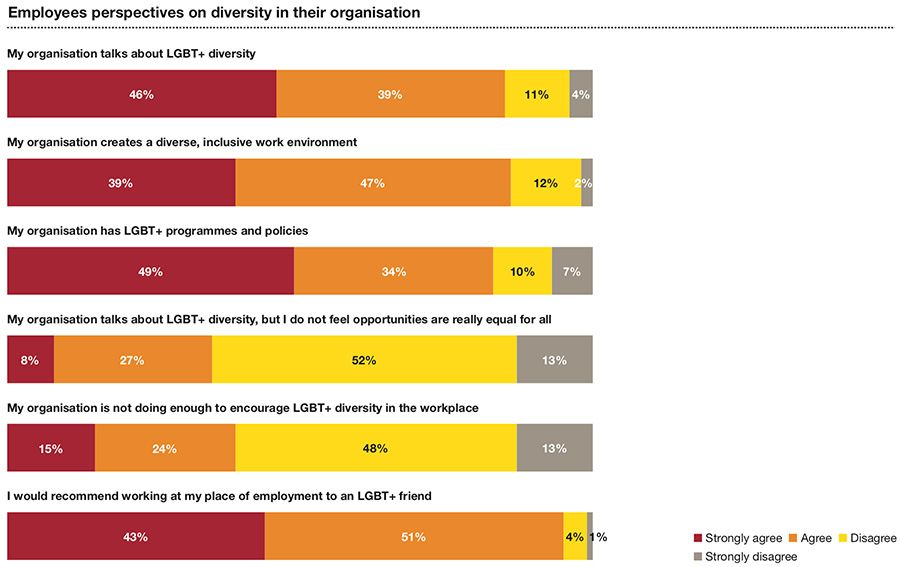 Employee perspectives on diversity in their organisation