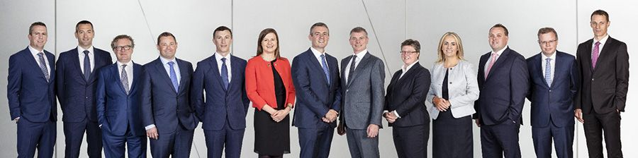 From left to right; Niall Barrett, Ronan Clinton, Paul Traynor, Robert Henson, Eamon McCallion, Vickie Wall, Frank O'Keeffe, Eoin MacManus, Catherine Vaughan, Sarah Connellan, Ian Edwards, Cian O'Donovan, Andrew Dolliver