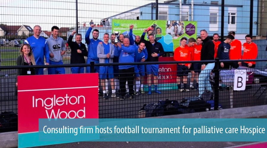 Consulting firm hosts football tournament for palliative care Hospice