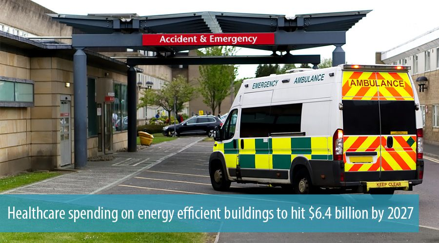 Healthcare spending on energy efficient buildings to hit $6.4 billion by 2027