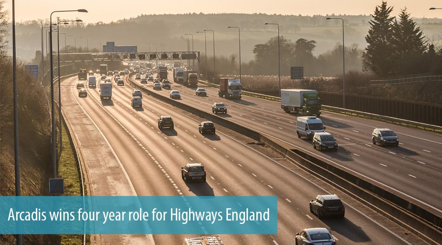 Arcadis wins four year role for highways england for Arcadis consulting