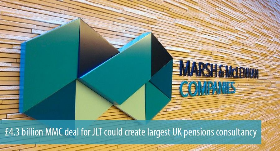 £4.3 billion MMC deal for JLT could create largest UK pensions consultancy