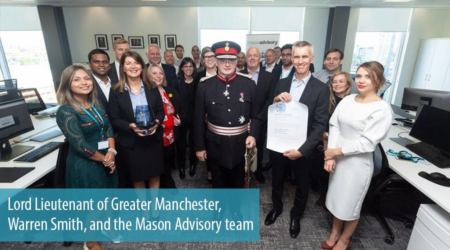 Lord Lieutenant of Greater Manchester, Warren Smith, and the Mason Advisory team