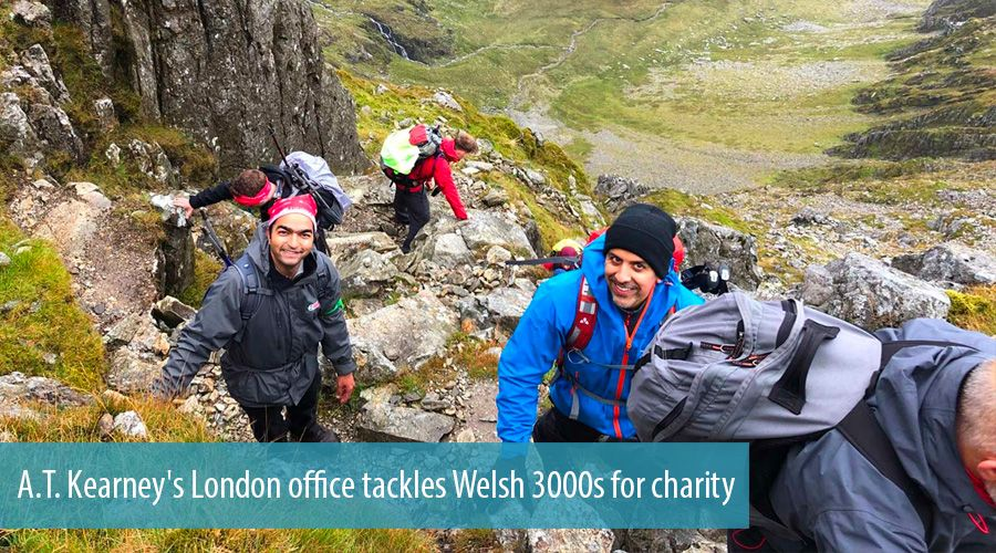 A.T. Kearney's London office tackles Welsh 3000s for charity