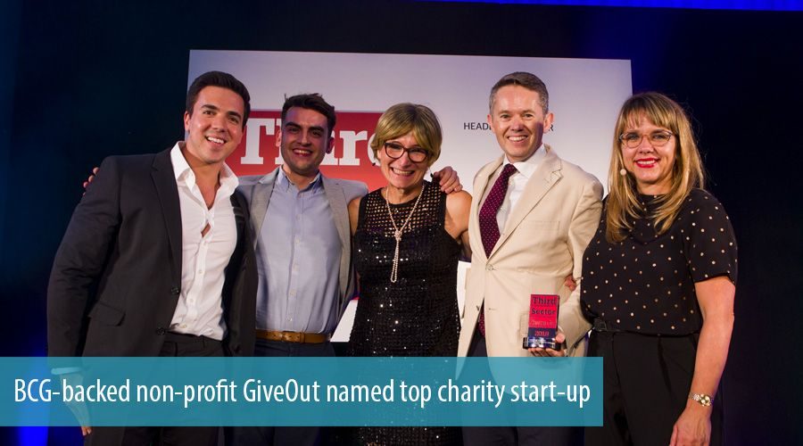 BCG-backed non-profit GiveOut named top charity start-up