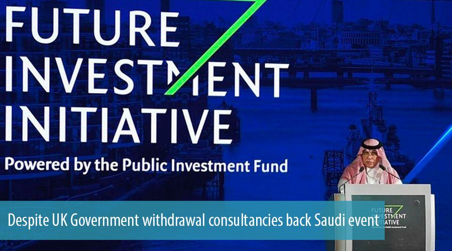 Despite UK Government withdrawal consultancies back Saudi event
