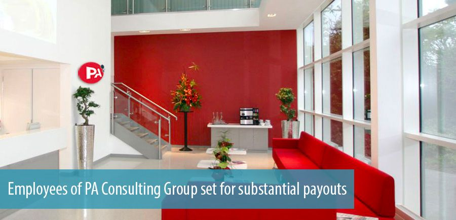 Employees of PA Consulting Group set for substantial payouts