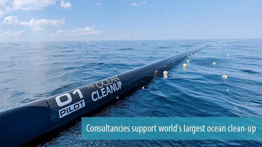 Consultancies support world's largest ocean clean-up