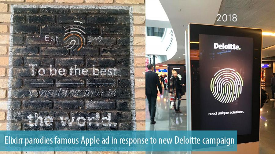 Elixirr parodies famous Apple ad in response to new Deloitte campaign