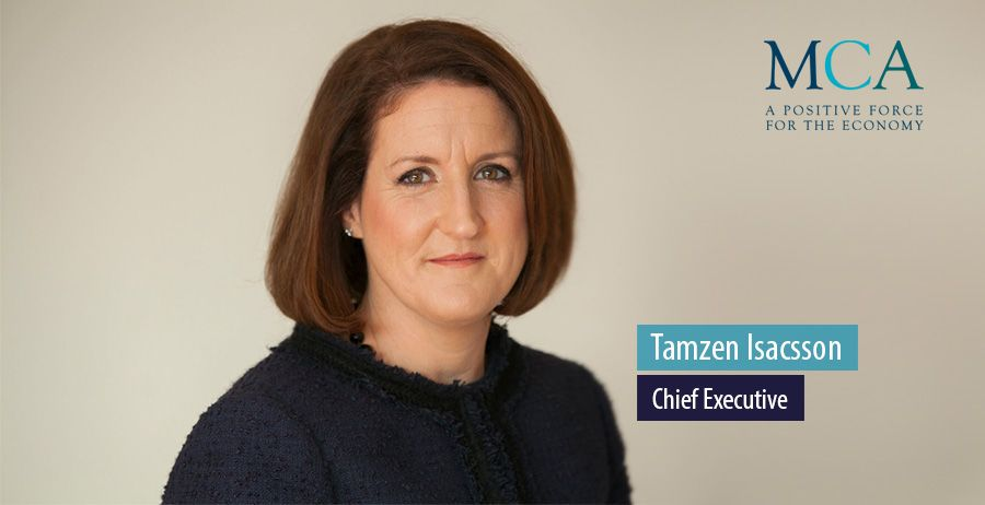 Tamzen Isacsson succeeds Alan Leaman as MCA Chief Executive