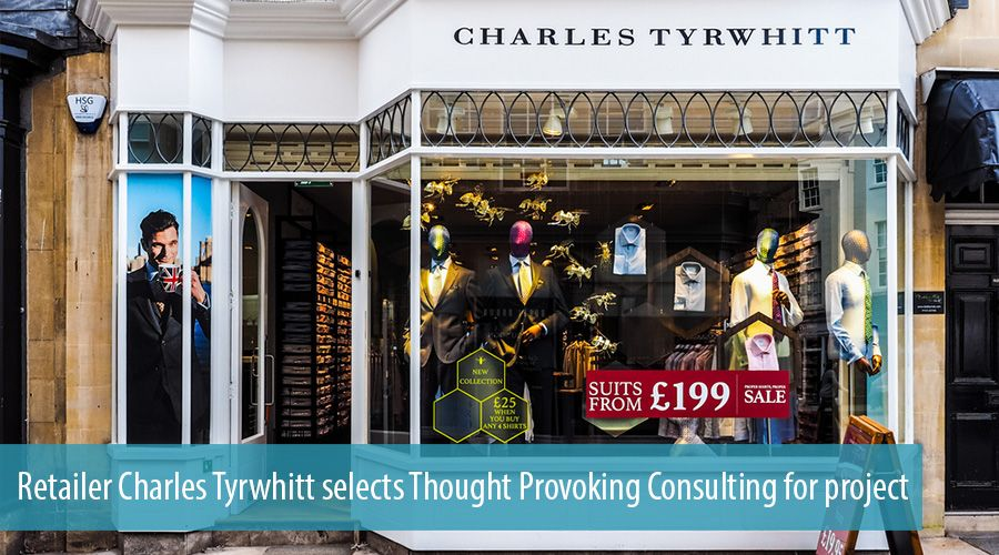 Retailer Charles Tyrwhitt selects Thought Provoking Consulting for project