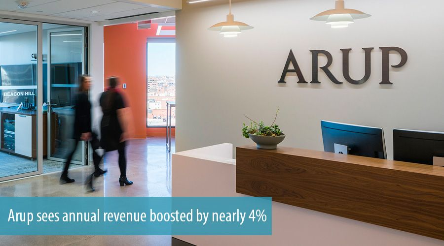 Arup sees annual revenue boosted by nearly 4%