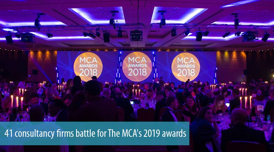 41 consultancy firms battle for The MCA's 2019 awards