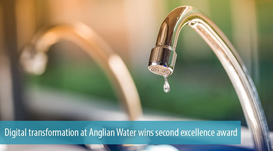 Digital transformation at Anglian Water wins second excellence award
