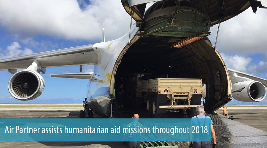 Air Partner assists humanitarian aid missions throughout 2018