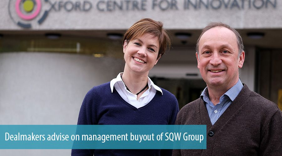 Dealmakers advise on management buyout of SQW Group