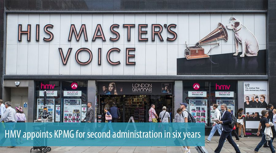 HMV appoints KPMG for second administration in six years