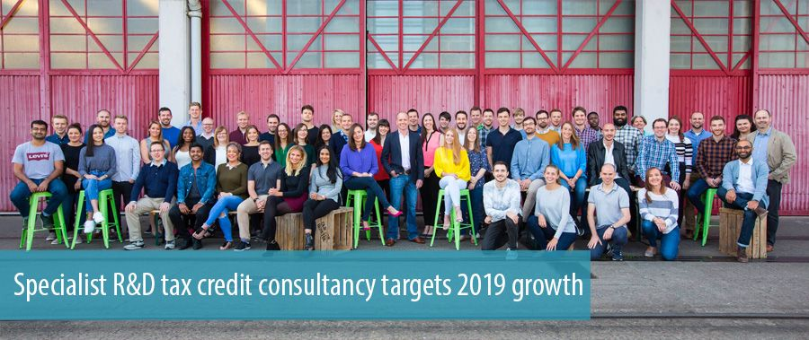 Specialist R&D tax credit consultancy targets 2019 growth