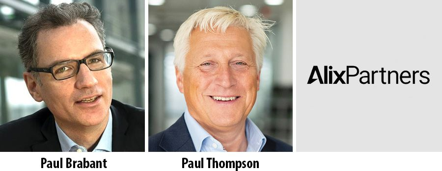 Paul Brabant and Paul Thompson promoted at AlixPartners UK