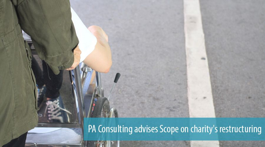 PA Consulting advises Scope on charity's restructuring