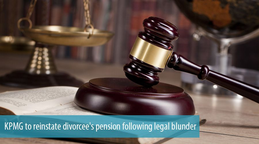 KPMG to reinstate divorcee's pension following legal blunder