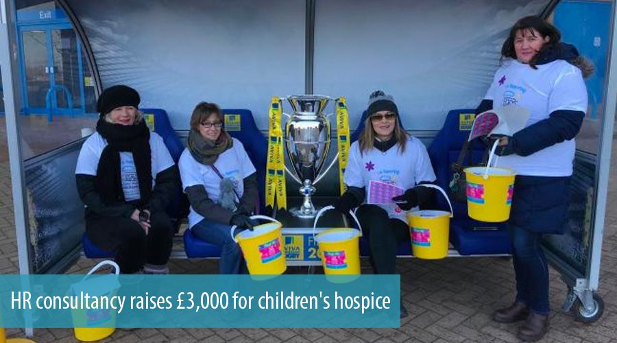 HR consultancy raises £3,000 for children's hospice
