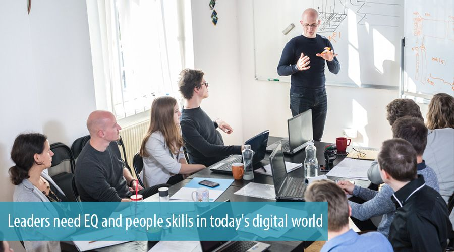 Leaders need EQ and people skills in today's digital world