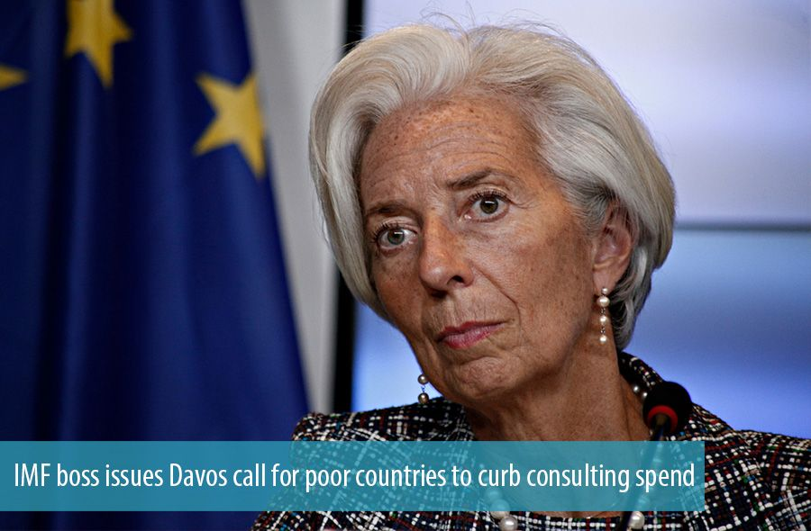 IMF boss issues Davos call for poor countries to curb consulting spend
