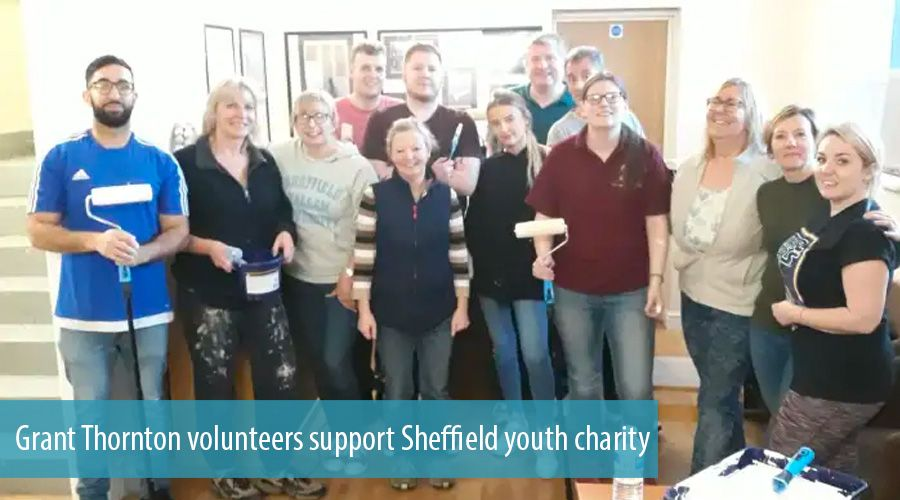 Grant Thornton volunteers support Sheffield youth charity