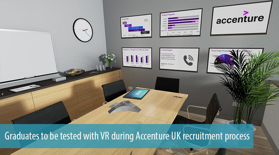 Graduates to be tested with VR during Accenture UK recruitment process