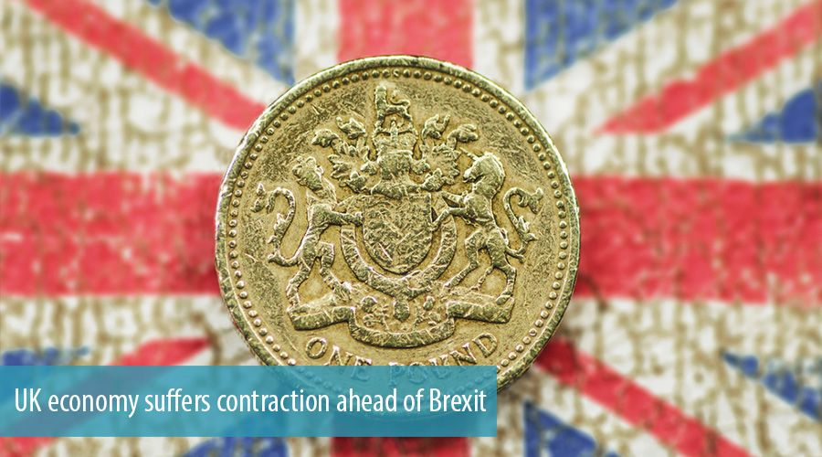 UK economy suffers contraction ahead of Brexit