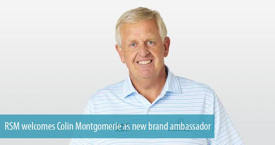RSM welcomes Colin Montgomerie as new brand ambassador