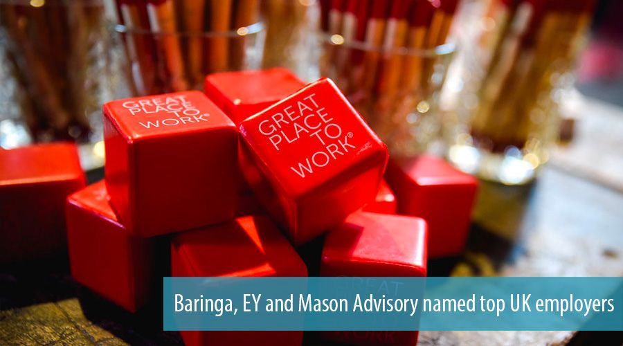 Baringa, EY and Mason Advisory named top UK employers