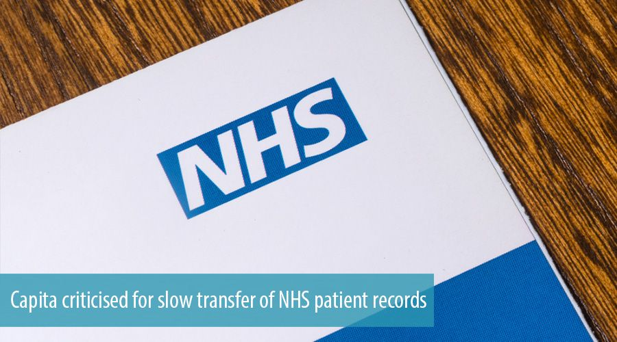 Capita criticised for slow transfer of NHS patient records