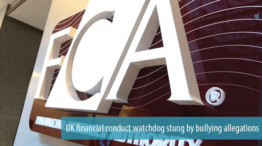 UK financial conduct watchdog stung by bullying allegations
