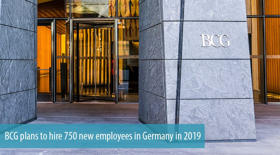 BCG plans to hire 750 new employees in Germany in 2019