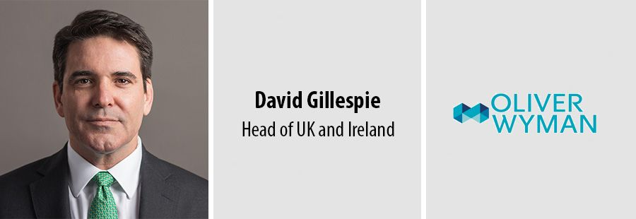 David Gillespie is new Head of UK and Ireland at Oliver Wyman
